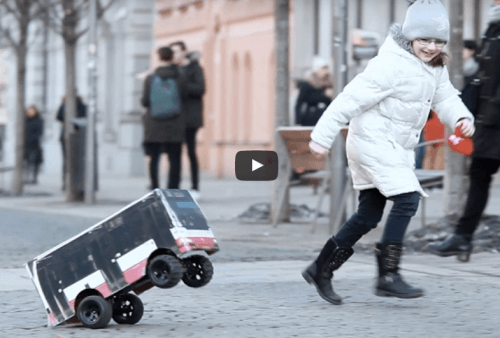 Prototype testing – remote controlled bus – Brno