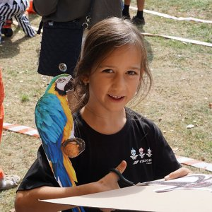 Stavba papoušků na rameno